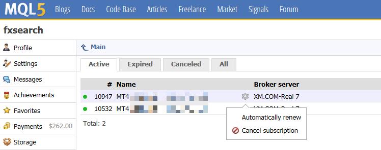MQL5 VPS自動更新