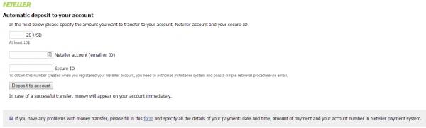 neteller payment input ID