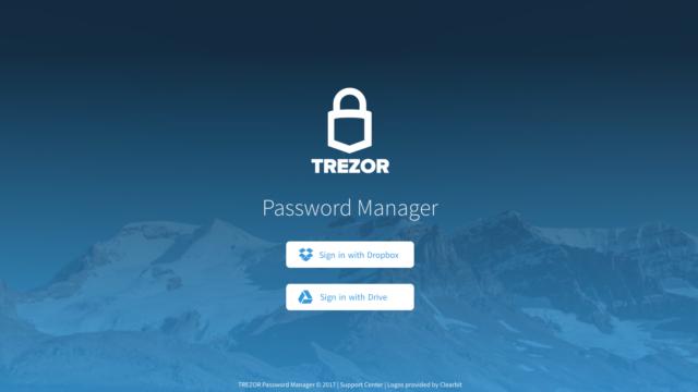 Trezor password manager